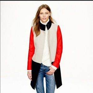 J. Crew Colorblock Tailored Wool Jacket